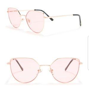 Diff eyewear Pixie XL slim rose gold frame